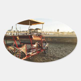 Beach Rentals Oval Sticker