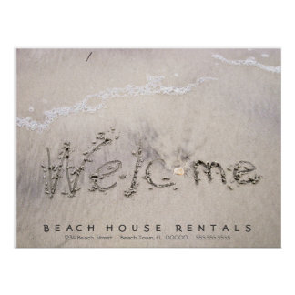 Beach Rentals Welcomes Poster