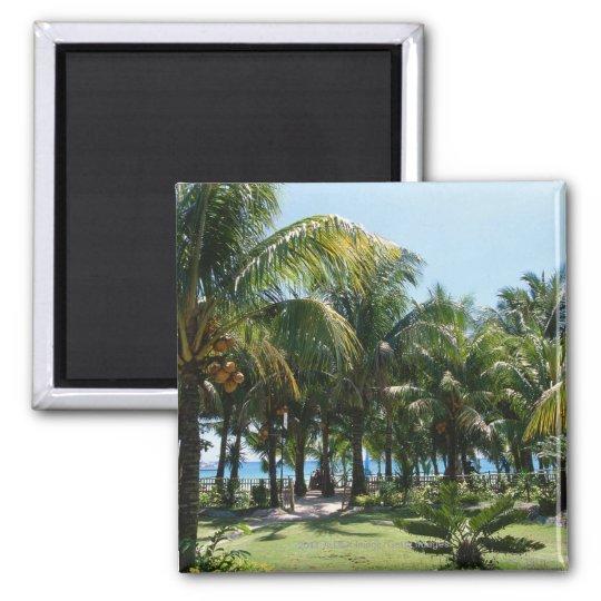 Beach resort magnet