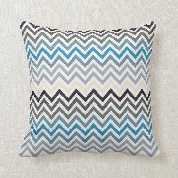 Beach Themed Beach Resort Tones Chevron pattern Throw Pillow
