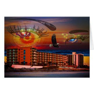 Beach Resorts in Daytona Beach Florida Landscape Card