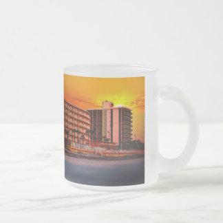 Beach Resorts in Daytona Beach Florida Landscape Frosted Glass Coffee Mug