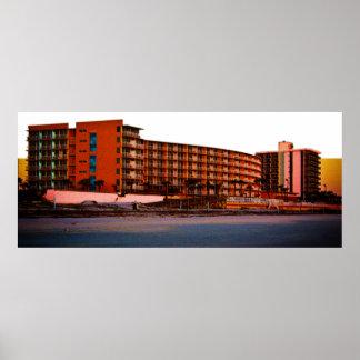 Beach Resorts in Daytona Beach Florida Landscape Poster