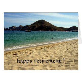 beach retirement big card