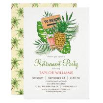 Beach Retirement Party Invitation