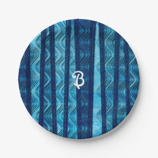 Beach Retro Waves Vintage Birthday Party Plates