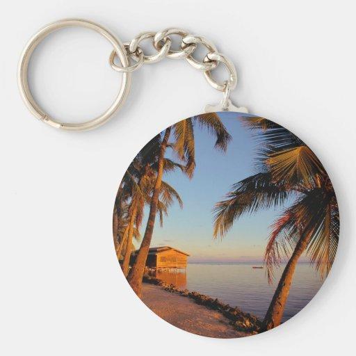 Beach Roatan Honduras Key Chain