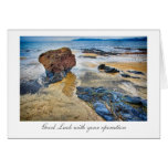 Beach Rock - Good Luck with your Operation Greeting Card
