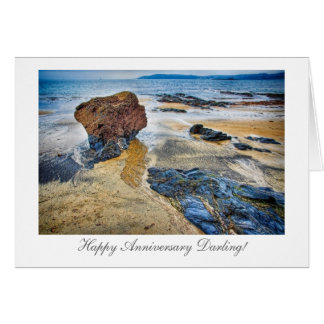 Beach Rock - Happy Anniversary Greeting Card
