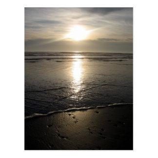 Beach rocks and a Sunset Postcard