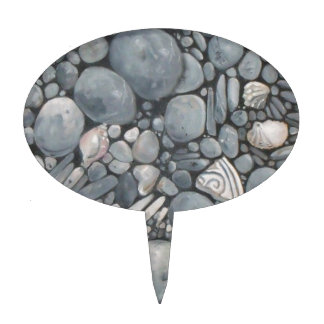 Beach Rocks and Stones Pebbles Cake Topper