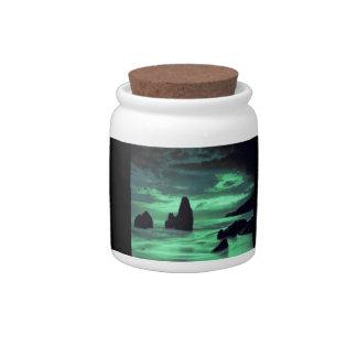 Beach, Rocks Candy Jar