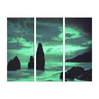 Beach, Rocks Canvas Print