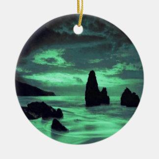 Beach, Rocks Ceramic Ornament