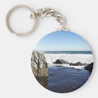Beach Rocks Keychain