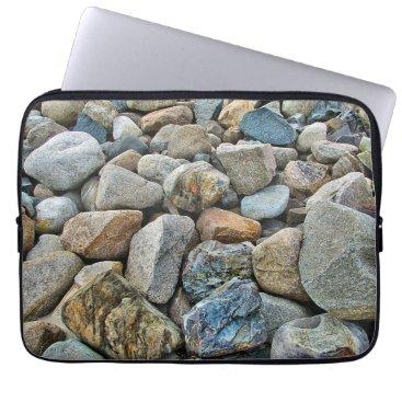 Beach Themed Beach Rocks Laptop Sleeve