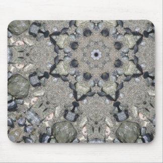 Beach Rocks Mandala Mouse Pad