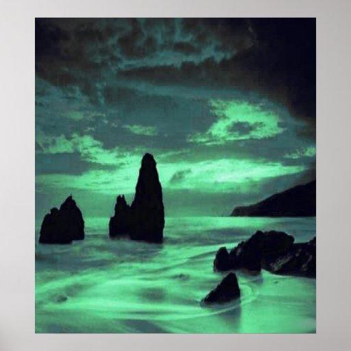 Beach, Rocks Poster