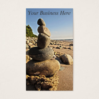 Beach Rocks Stacked Business Card