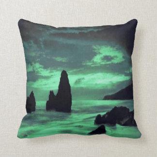 Beach, Rocks Throw Pillow