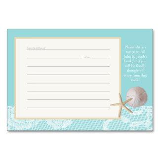 Beach Romance Recipe Card Robin Egg Blue Table Cards