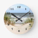 Beach Round Clock at Zazzle