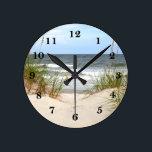 """Beach Round Clock<br><div class=""""desc"""">Beach</div>"""