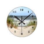 Beach Round Clock