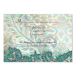 "Beach RSVP Wedding Reply Card Dolphins 3.5"" X 5"" Invitation Card"