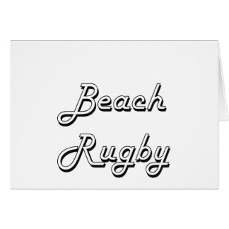 Beach Rugby Classic Retro Design Stationery Note Card