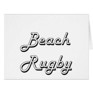 Beach Rugby Classic Retro Design Large Greeting Card