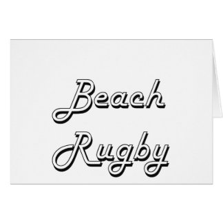 Beach Rugby Classic Retro Design Greeting Card
