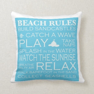 Throw Pillows Room And Board : Beach Rules Pillows - Decorative & Throw Pillows Zazzle