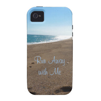 Beach Run Away with Me Quote Vibe iPhone 4 Case