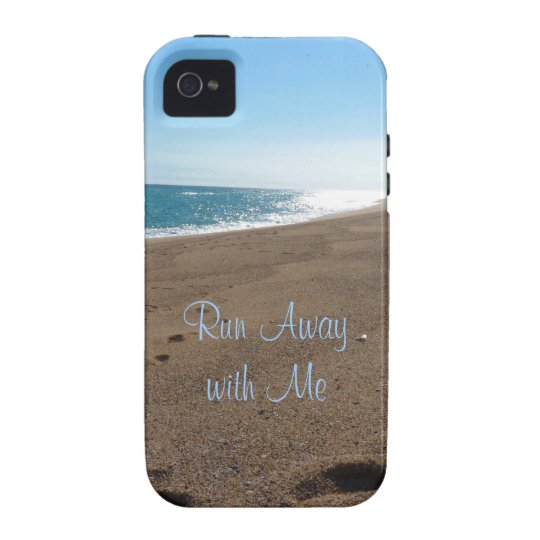 Beach Run Away with Me Quote Case-Mate iPhone 4 Case