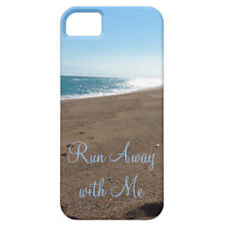 Beach Run Away with Me Quote iPhone SE/5/5s Case