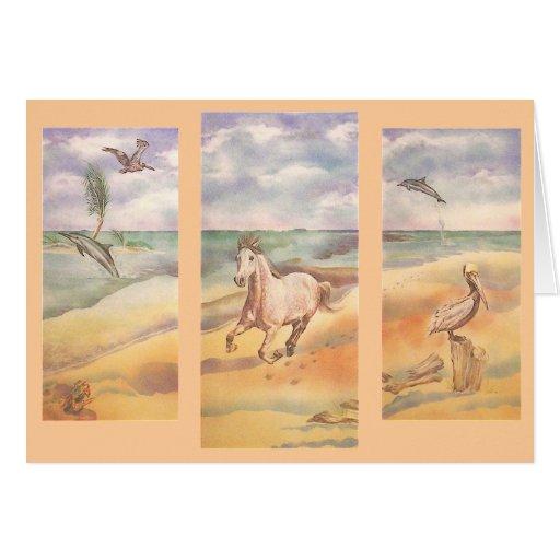 Beach Run Horse Card