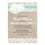 Beach Rustic Burlap Lace Bridal Shower Invitation