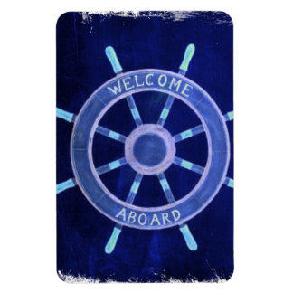 beach  rustic chic navigation wheel nautical vinyl magnet