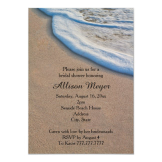 Beach Sand and Sea Foam Bridal Shower Card