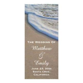 Beach Sand and Sea Foam Wedding Program