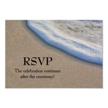 Aloha_Friday Beach Sand and Sea Foam Wedding RSVP Card