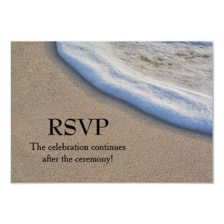 Beach Sand and Sea Foam Wedding RSVP 3.5x5 Paper Invitation Card