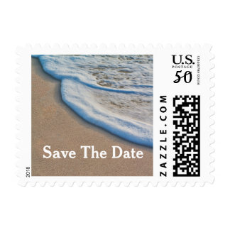 Beach Sand and Sea Foam Wedding Save The Date Postage