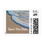 Beach Sand and Sea Foam Wedding Save The Date Stamps