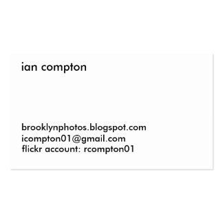 Beach Sand Black & White Business Card Template