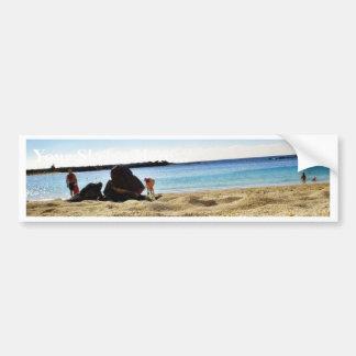 Beach Sand Bumper Stickers