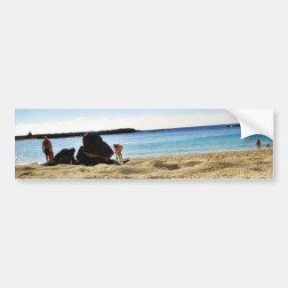 Beach Sand Bumper Sticker