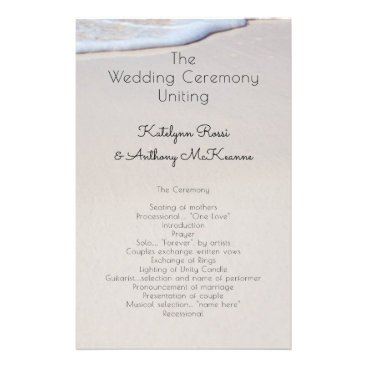 Beach Sand Custom Affordable Wedding Program