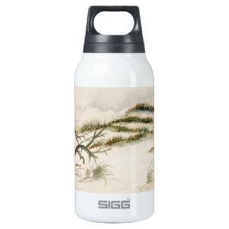 Beach sand dunes gulf coast insulated water bottle